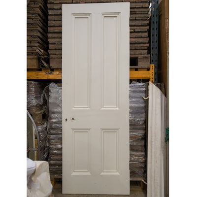 Reclaimed Victorian 4 Panel Door - 219cm x 78cm