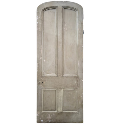 Antique Victorian Arched Door - 248cm x 98.5cm - architectural-forum