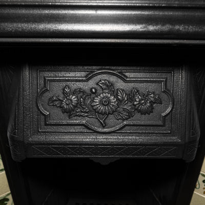 Edwardian Tiled Cast Iron Combination Fireplace - The Architectural Forum