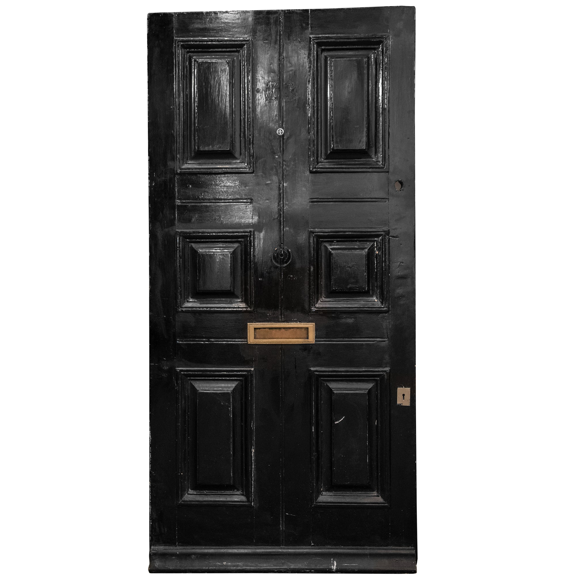 Antique Georgian 6 Panel Front Door - 204.5cm x 100cm