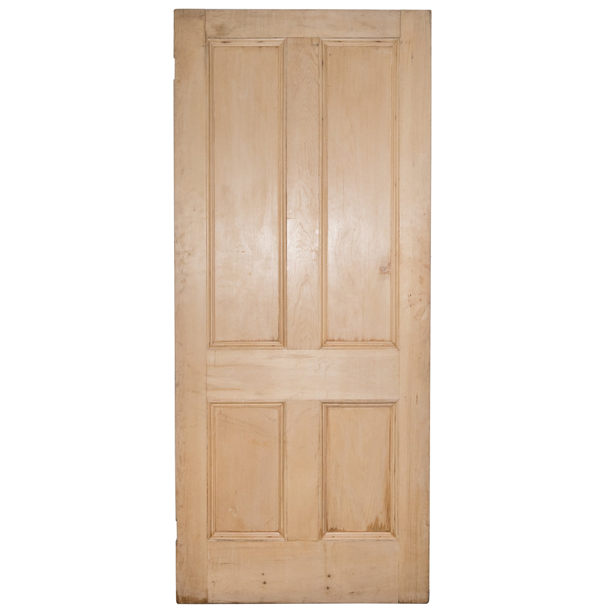 Solid Pine Four Panel Door Stripped - 212cm x 91.5cm - architectural-forum
