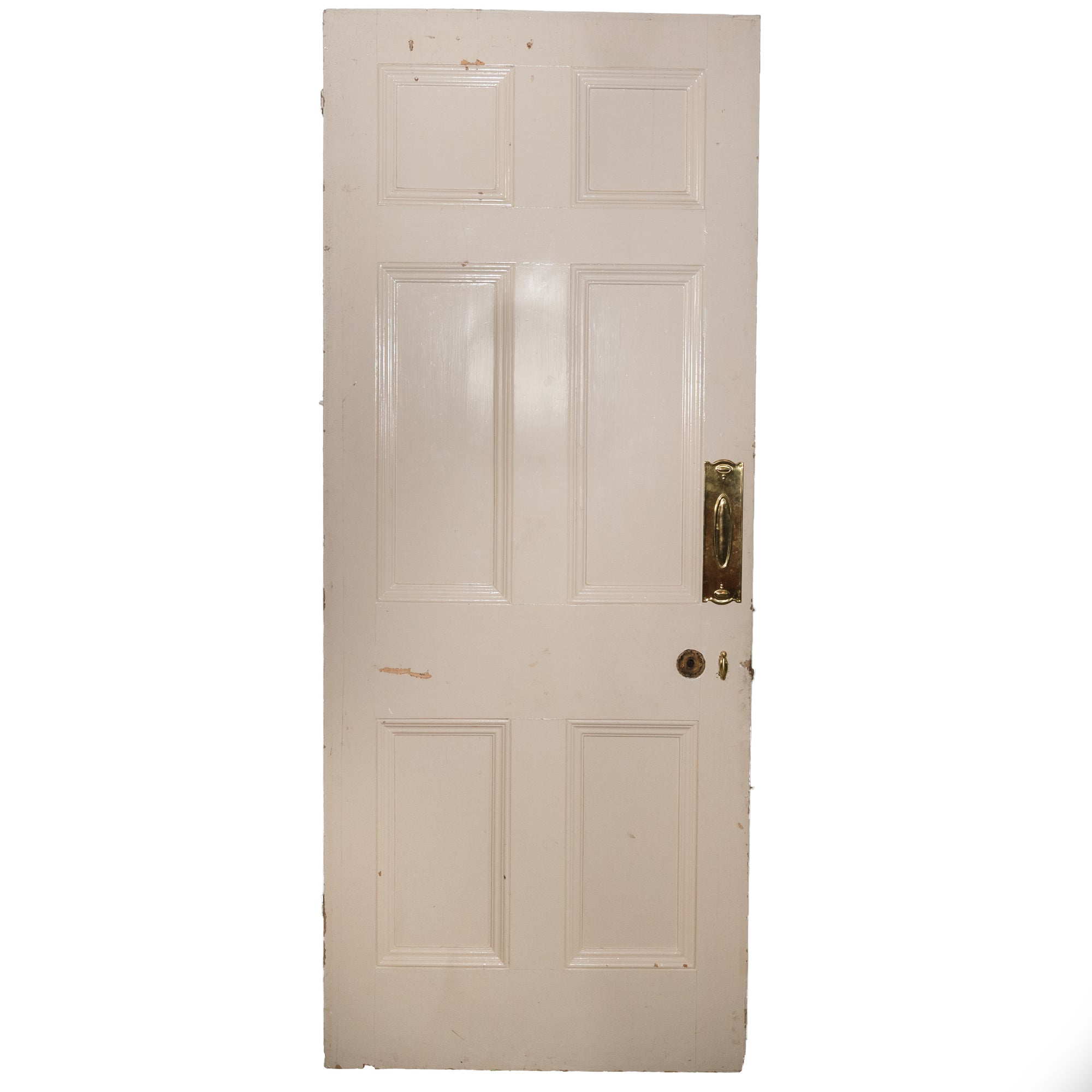 Antique Georgian six Panelled Door - 205cm x 83cm - The Architectural Forum