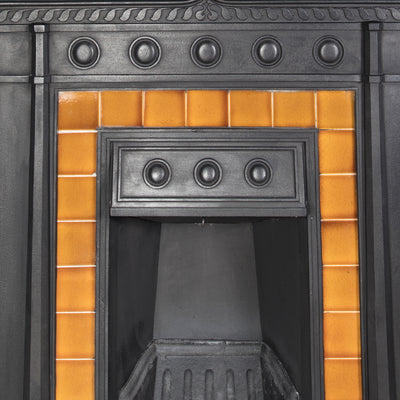 Edwardian Cast Iron Tiled Combination Fireplace - The Architectural Forum