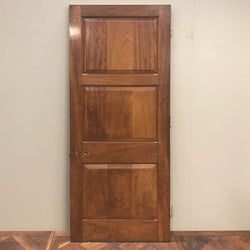 mahogany internal door stained