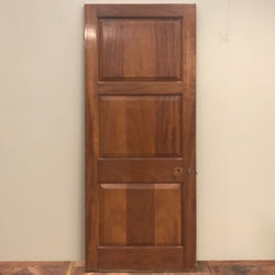 solid wood internal door early 20th century