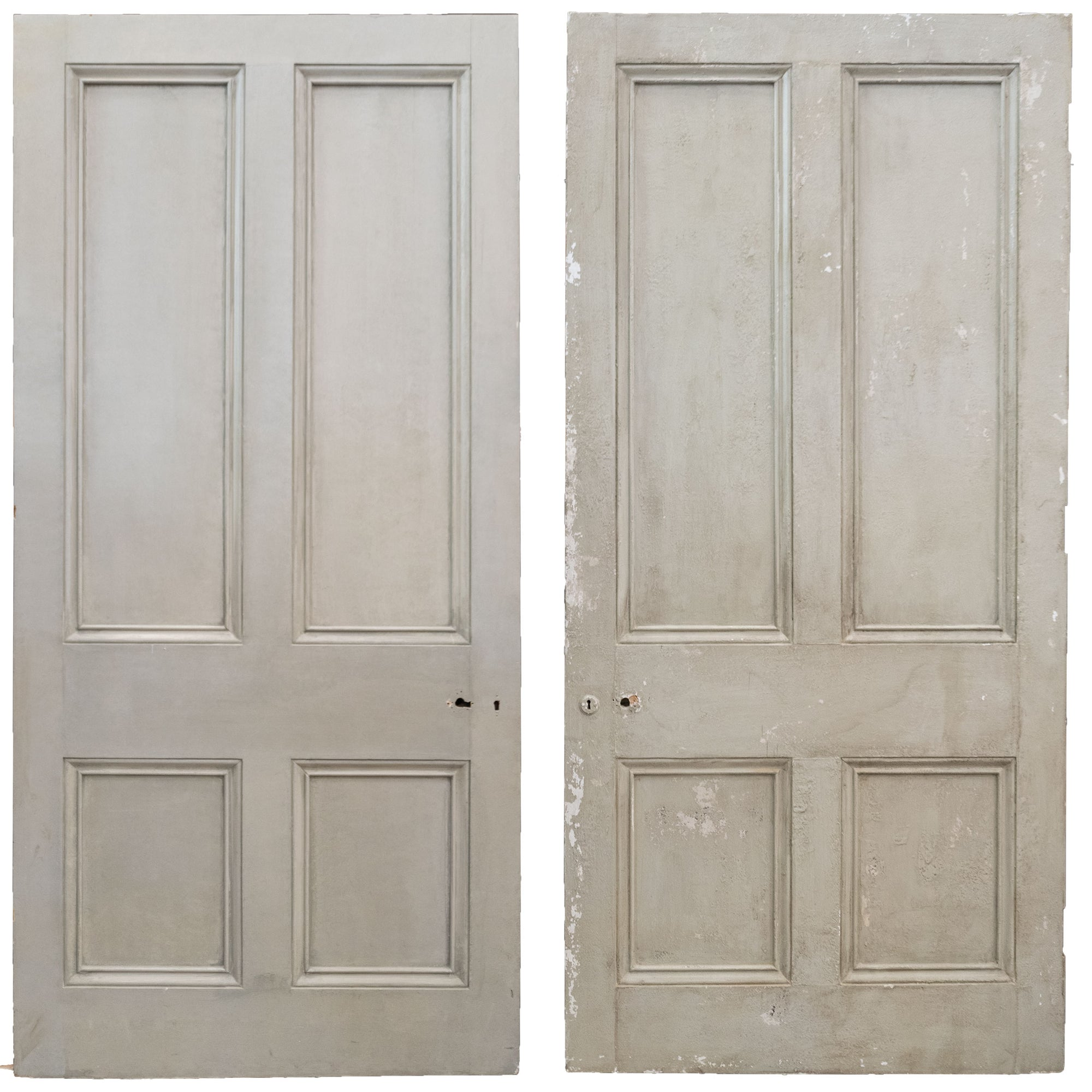 Large Antique Victorian 4 Panel Door - 223.5cm x 105.5cm
