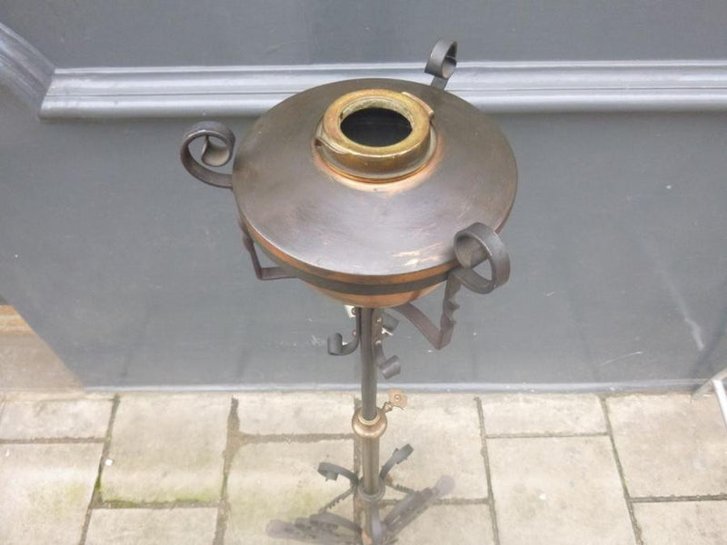 Antique Copper Lamp Stand