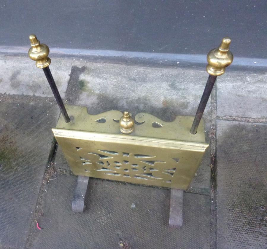 Antique Brass Fireside Pot Warmer | The Architectural Forum