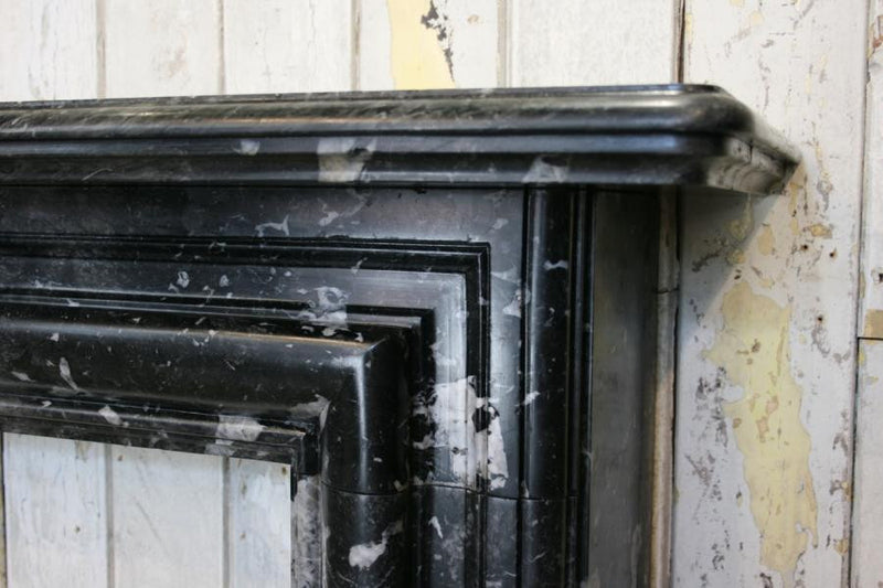 Antique Black Marble Fire Surround - The Architectural Forum
