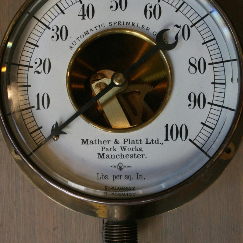 Antique sprinkler gauge