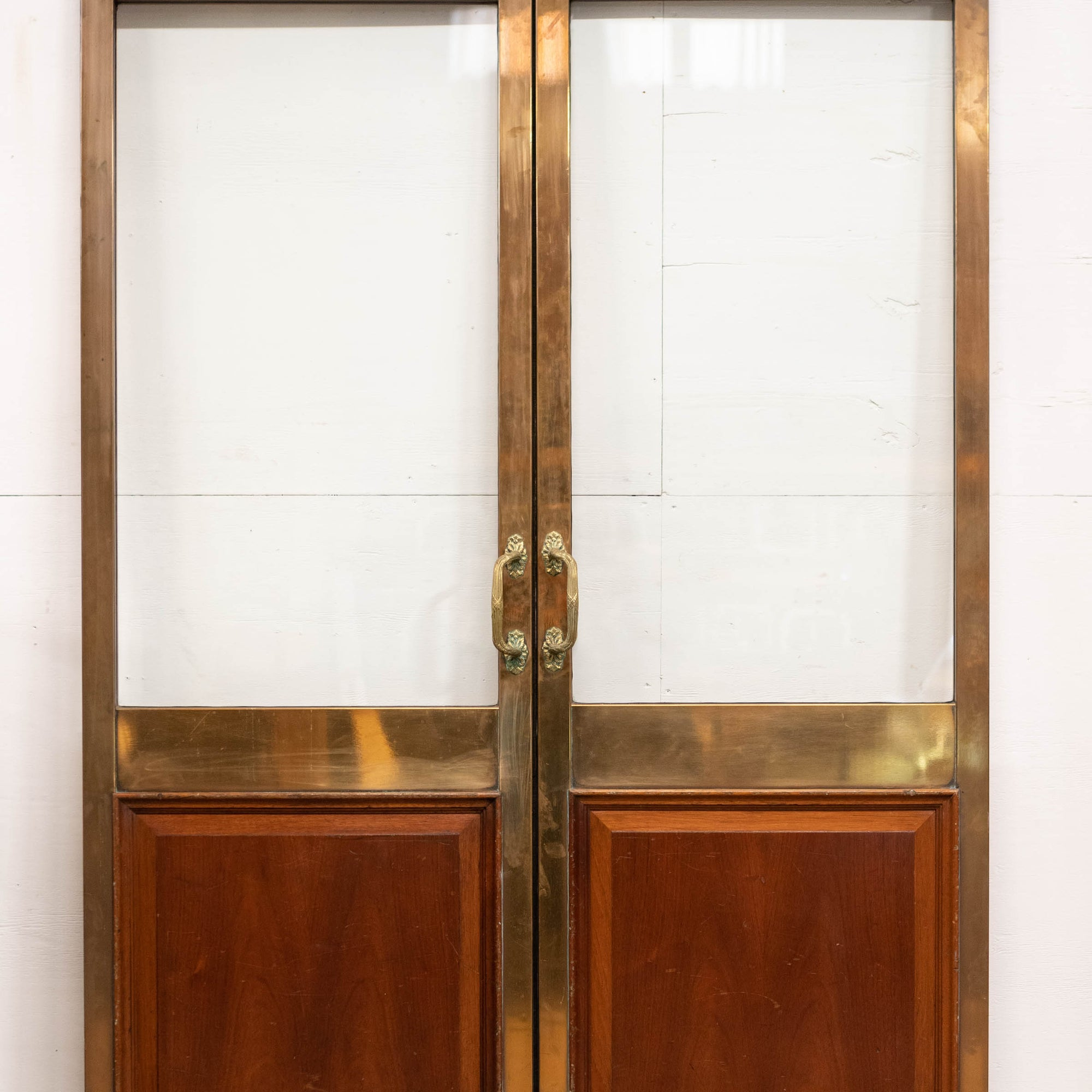 Antique Brass and Mahogany Glazed Dividing doorsDoors | The Architectural Forum