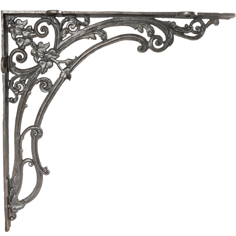 Large Antique Victorian Cast Iron Decorative Shelf Brackets