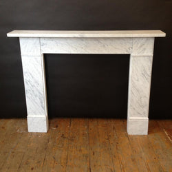 Carrara marble nineteenth century style fire surround
