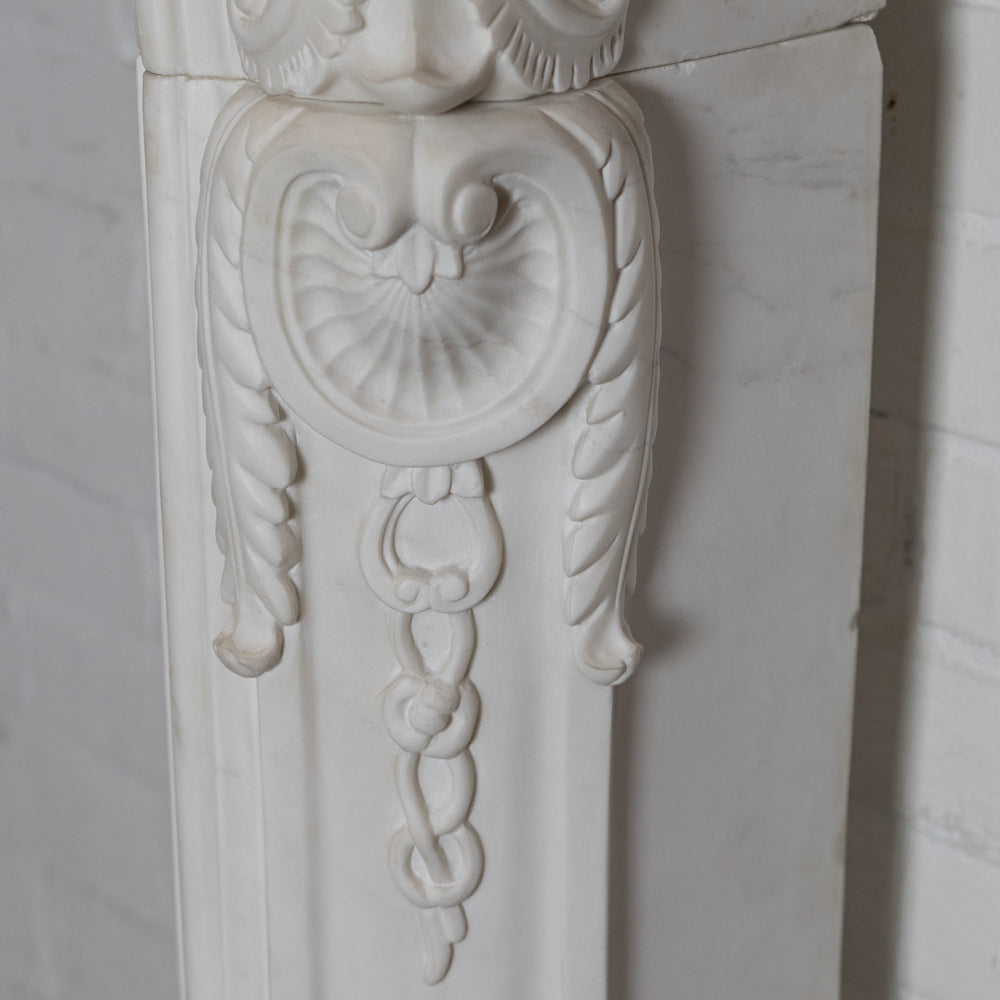 Rococo Style Navarre Statuary Marble Chimneypiece (pair available) | The Architectural Forum