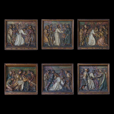 Antique Stations of the Cross Plaques - architectural-forum
