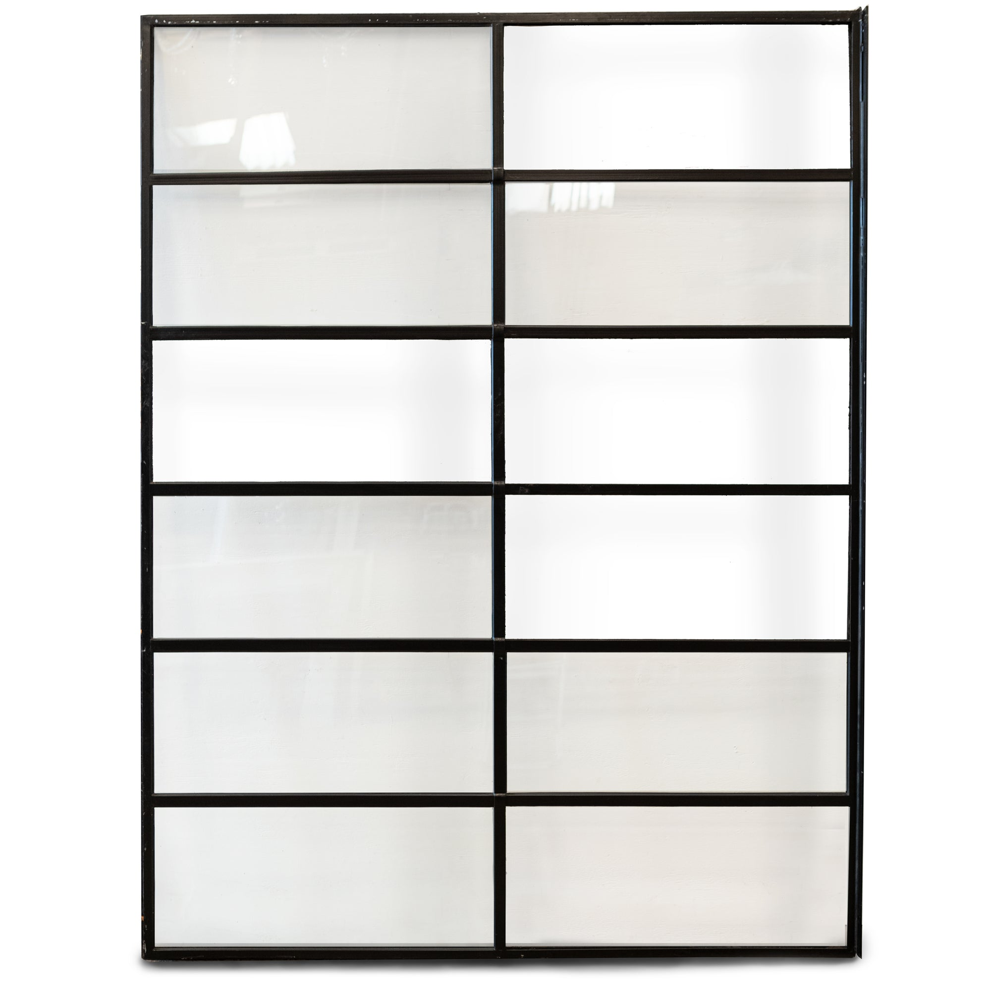 Authentic Crittall Glazed Panels |  Black Steel Frame (4 Available) | The Architectural Forum