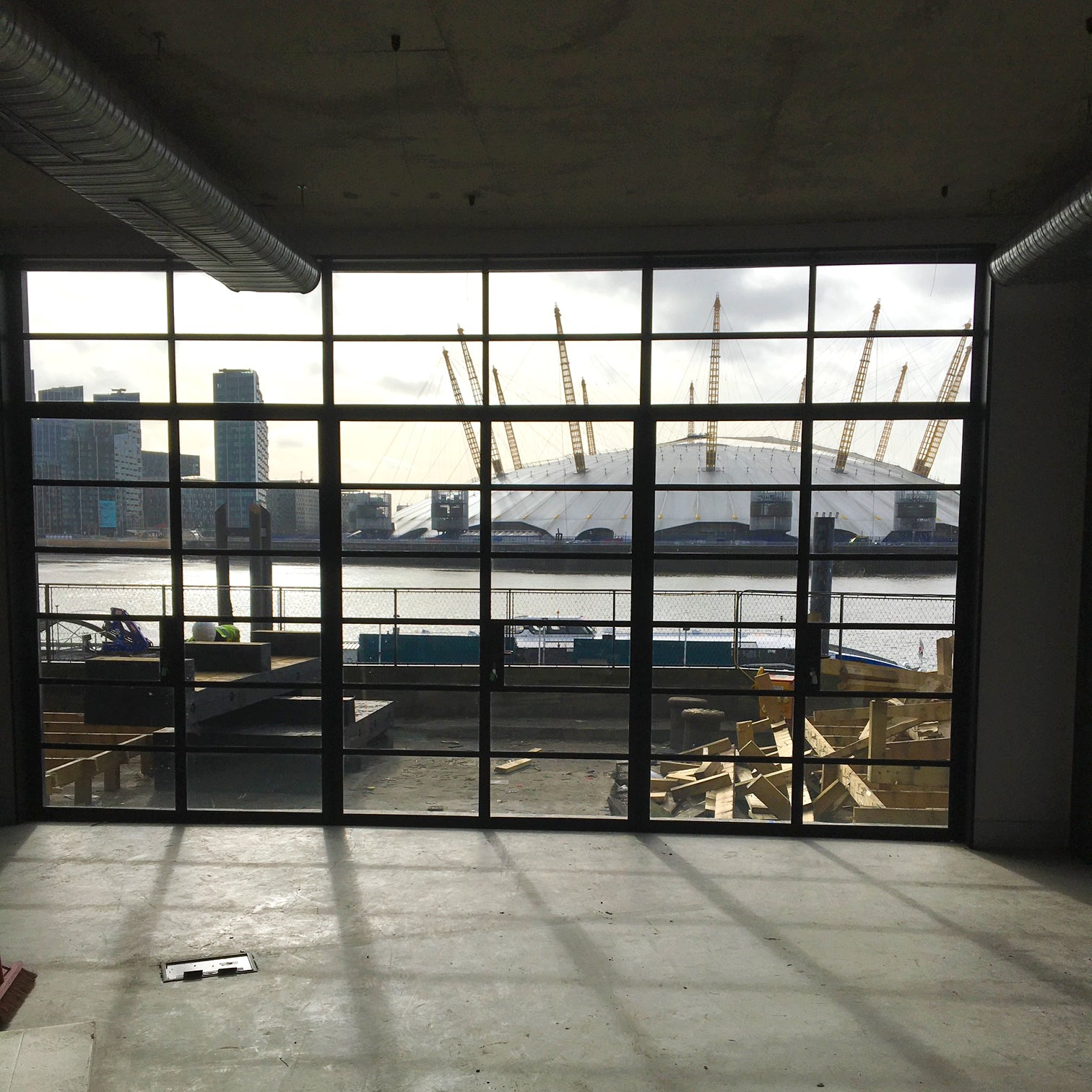 Genuine Crittall Glazed Panels |  Black Steel Frame (3 Available) | The Architectural Forum