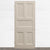 Antique Victorian Five Panel Door - 210cm x 90.5cm - architectural-forum