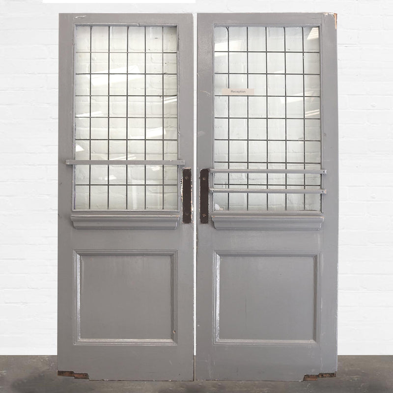 Victorian Leaded Glass Panelled Doors