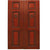 Reclaimed Solid Walnut External Double Doors - 220cm x 136cm - architectural-forum