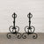 Antique Wrought Iron Firedogs - architectural-forum