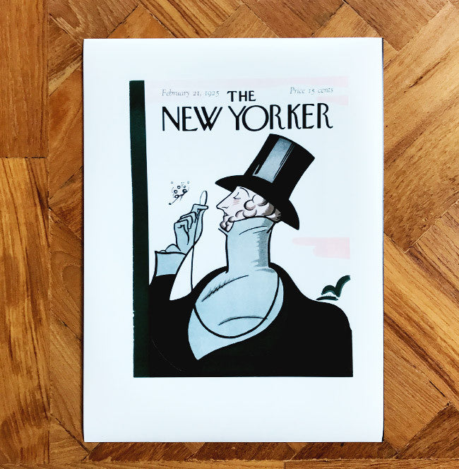 The New Yorker first issue cover print with Eustace Tilley, created by Rea Irvin