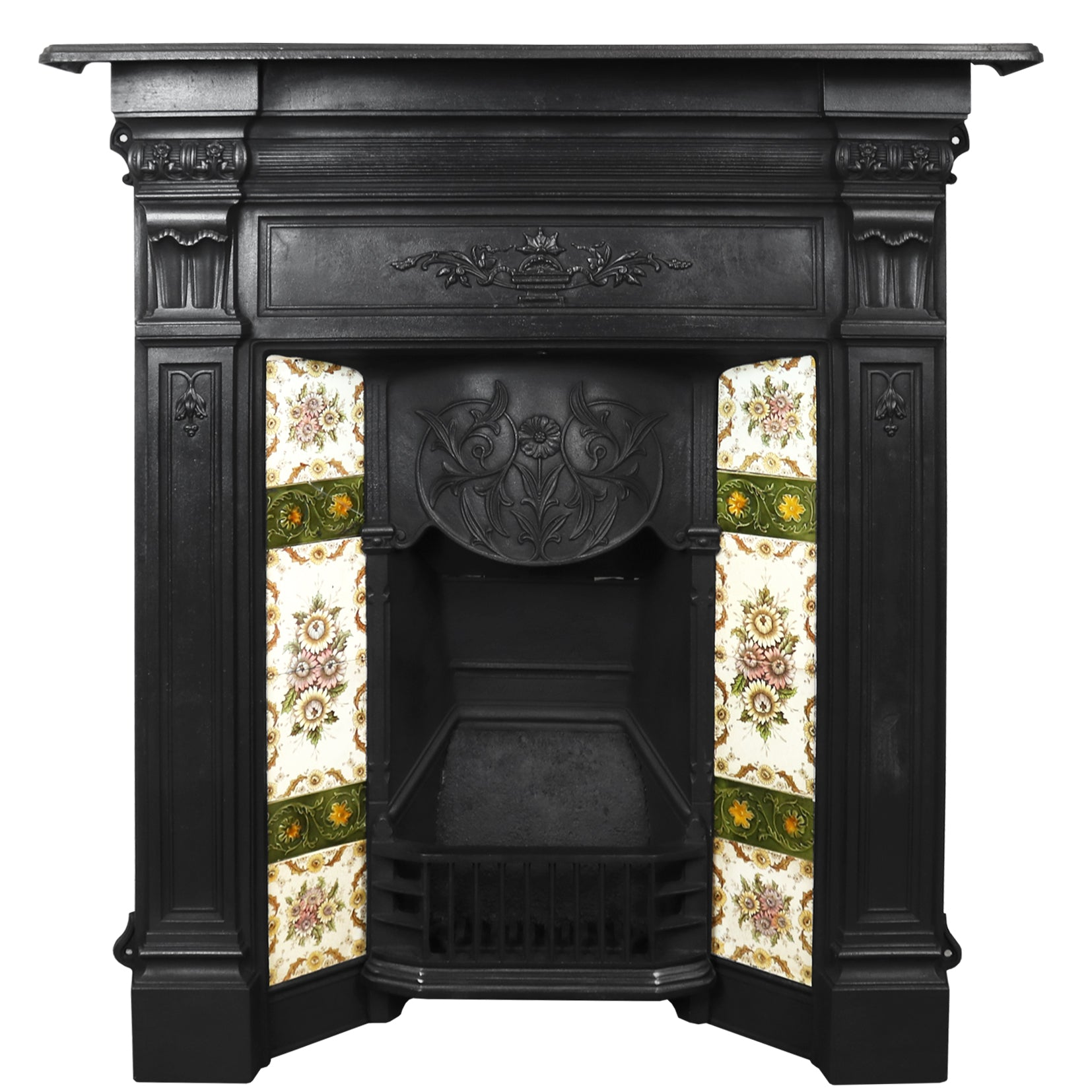 Edwardian Tiled Combination Fireplace - architectural-forum