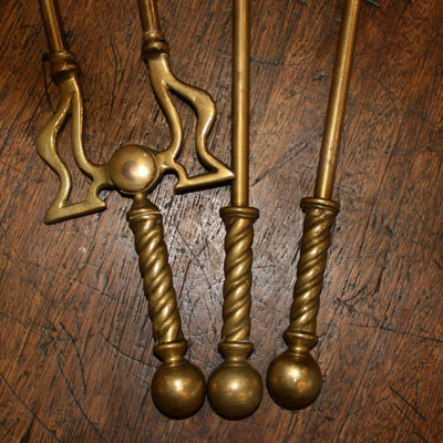 Antique Brass Fireplace Companion Set - The Architectural Forum