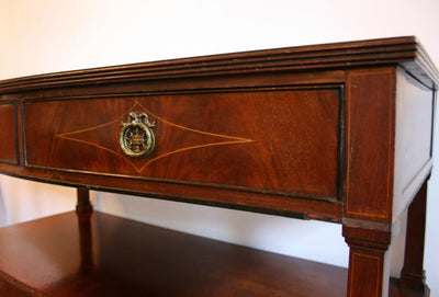 Queen Anne Style Flame Mahogany Sideboard - architectural-forum