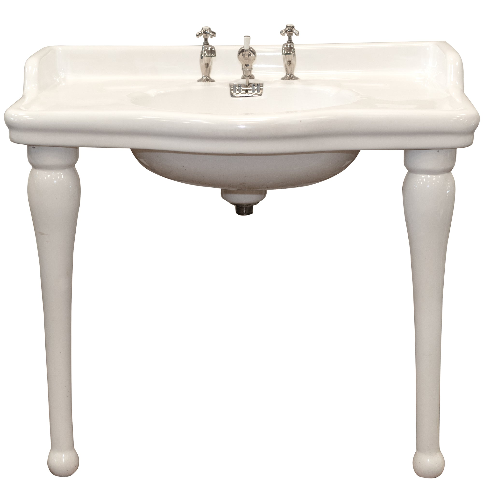 Reclaimed French La Chapelle Console Basin Sink on Legs