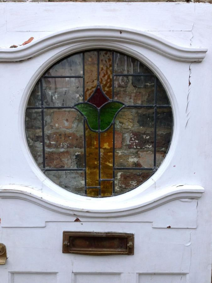 Antique Edwardian Stained Glass Front Door