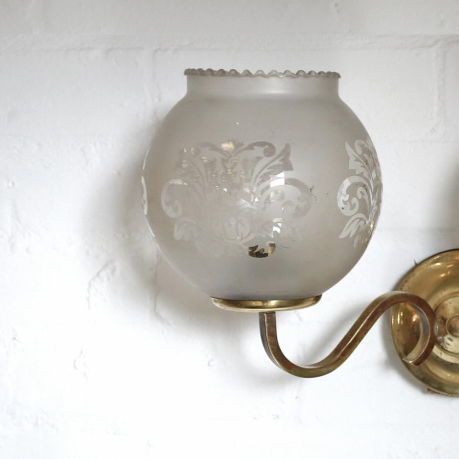 Antique Reclaim Frosted Wall Lights