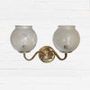 Antique Reclaim Frosted Wall Lights - The Architectural Forum