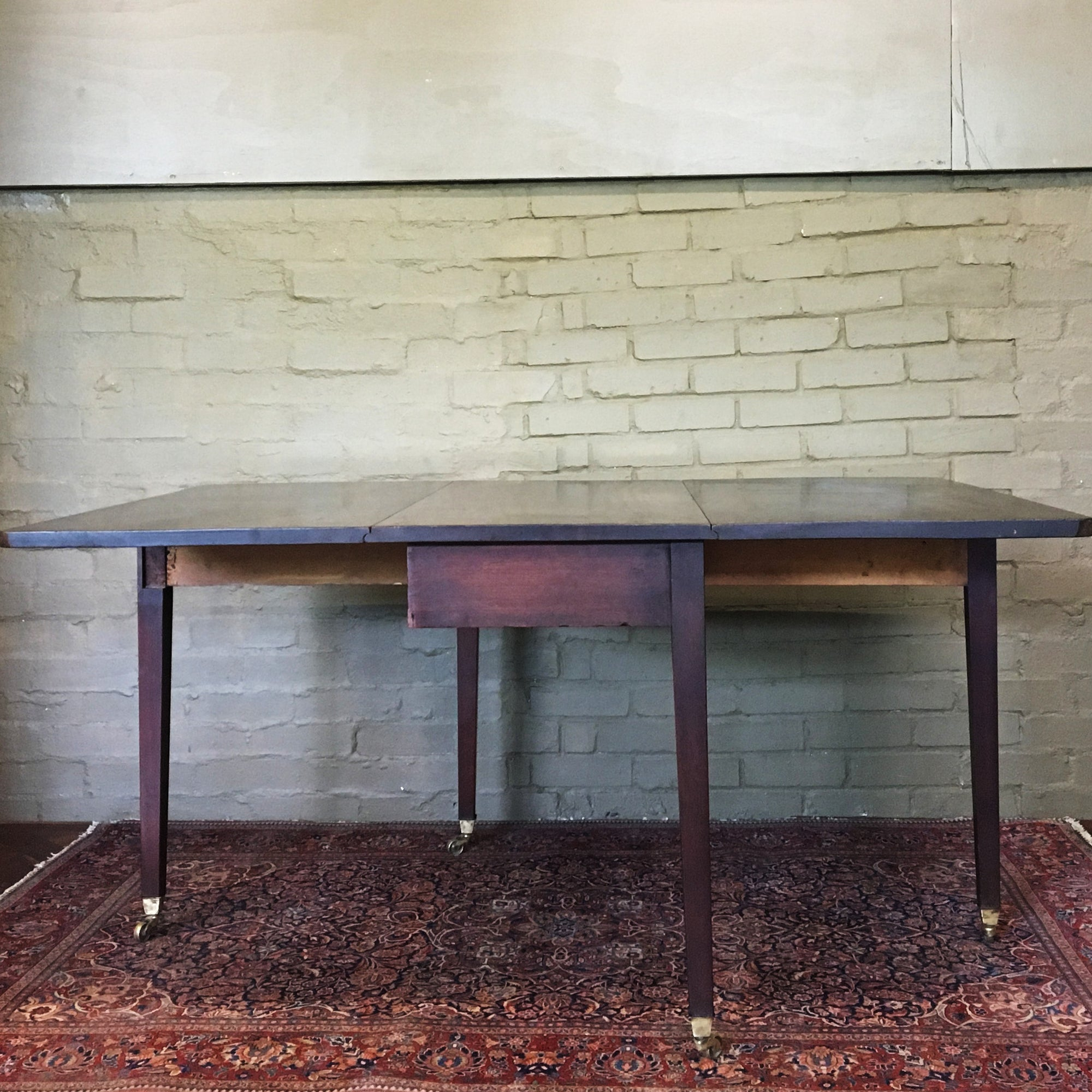 Antique Victorian Mahogany Drop Leaf Table - architectural-forum