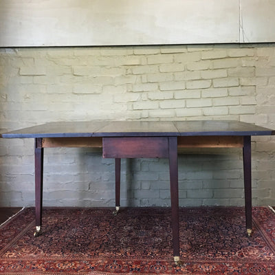 Antique Victorian Mahogany Drop Leaf Table - The Architectural Forum
