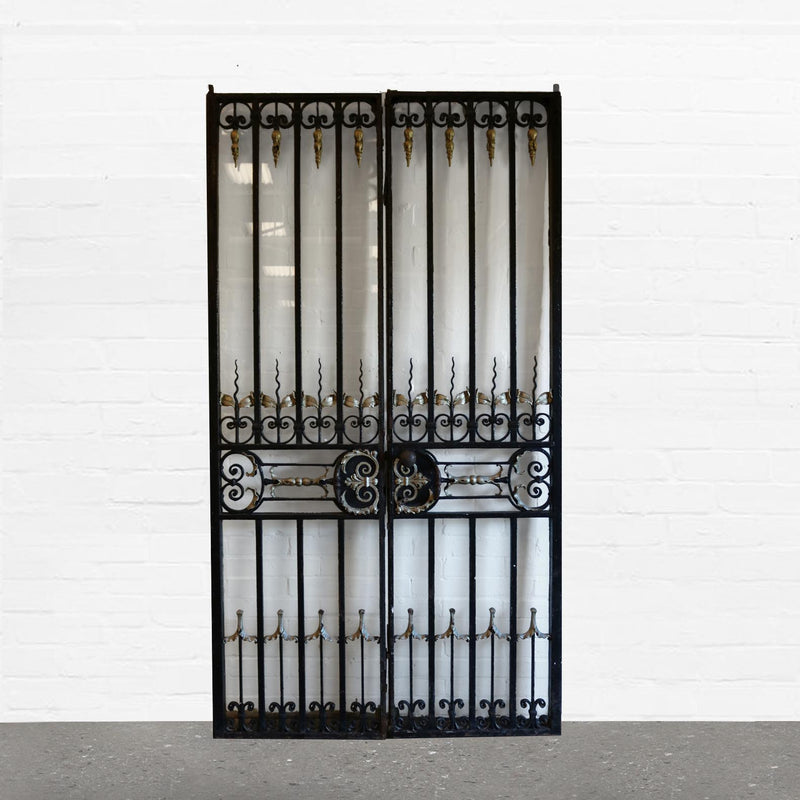 Antique Hand Forged Wrought Iron Gates with Glass Door - The Architectural Forum