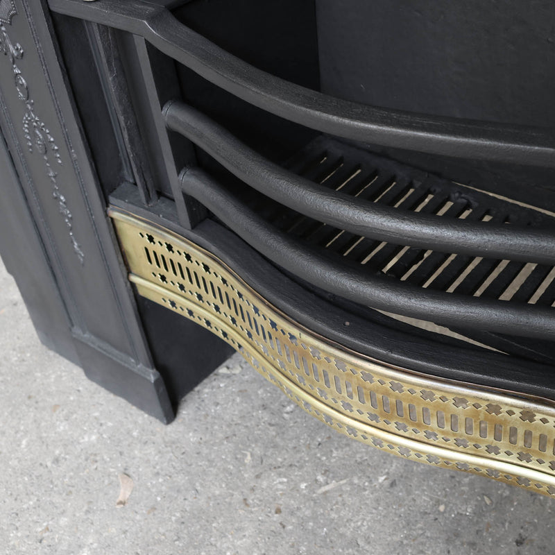 brass and cast iron fire insert