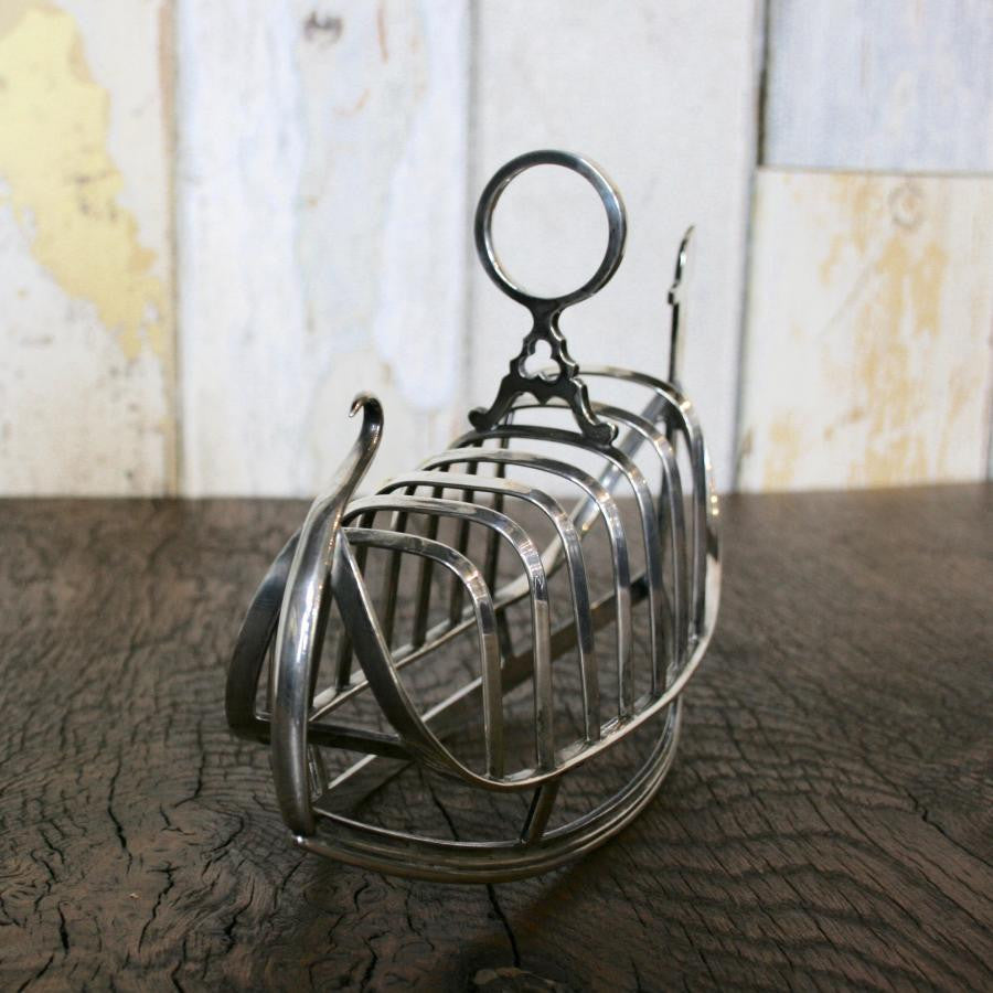 Antique Silver Plated Toast Rack - The Architectural Forum