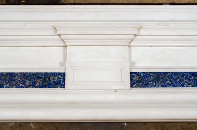 Antique Lapis Lazuli Marble Fireplace Surround - architectural-forum