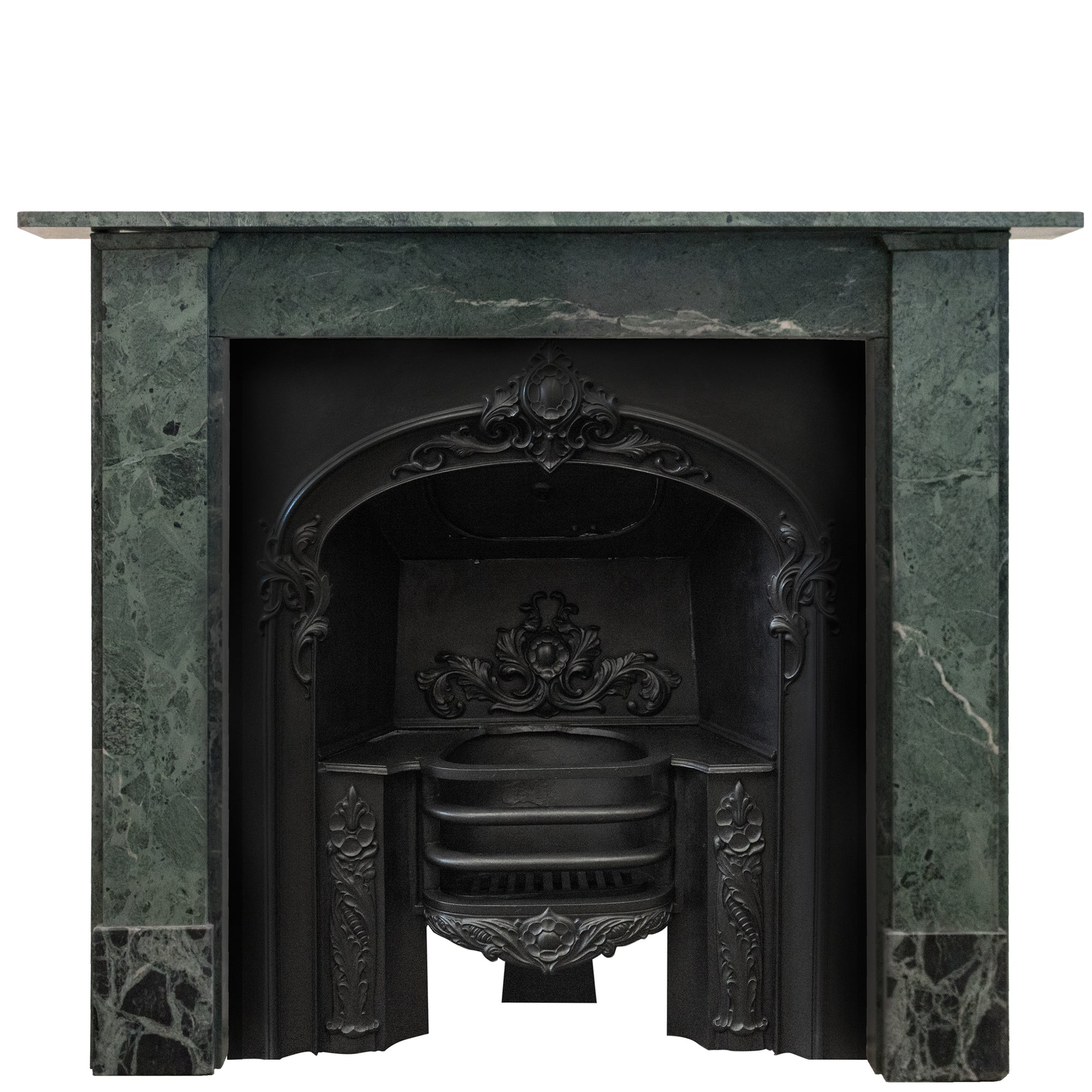 Georgian Style Verde Antico, Green Marble Chimneypiece