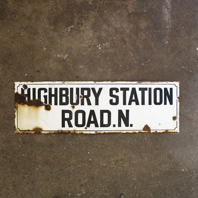 Antique Enamel London Road Sign - The Architectural Forum
