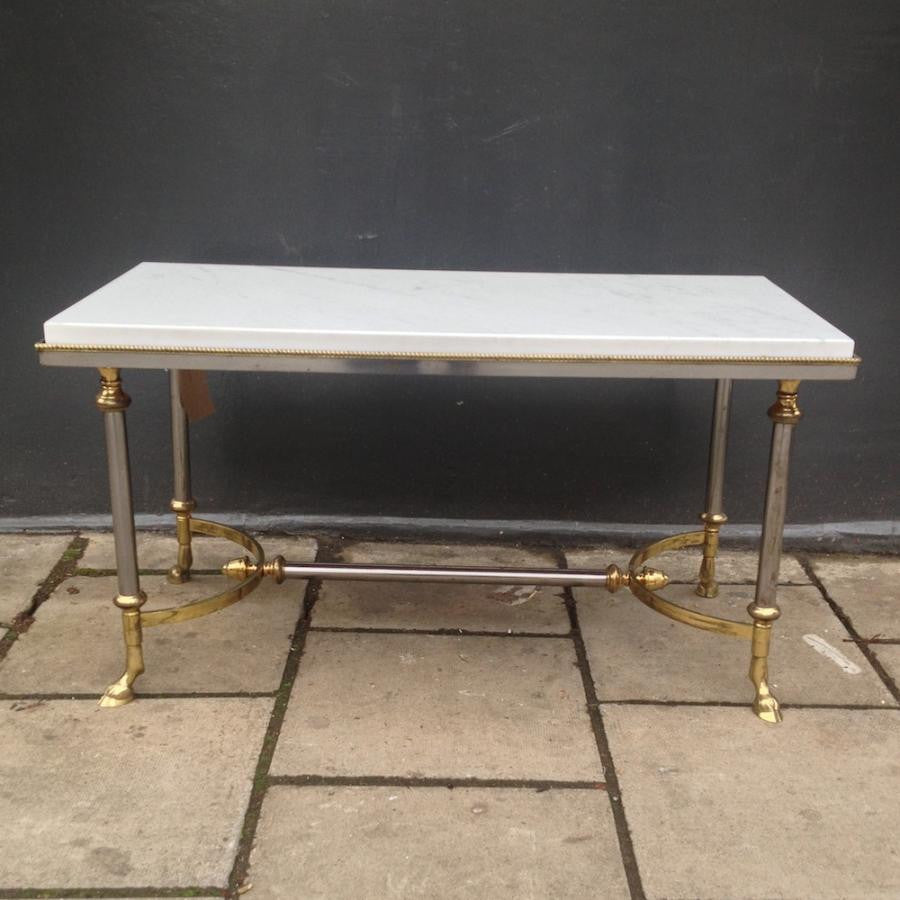 Marble and Brass Coffee Table