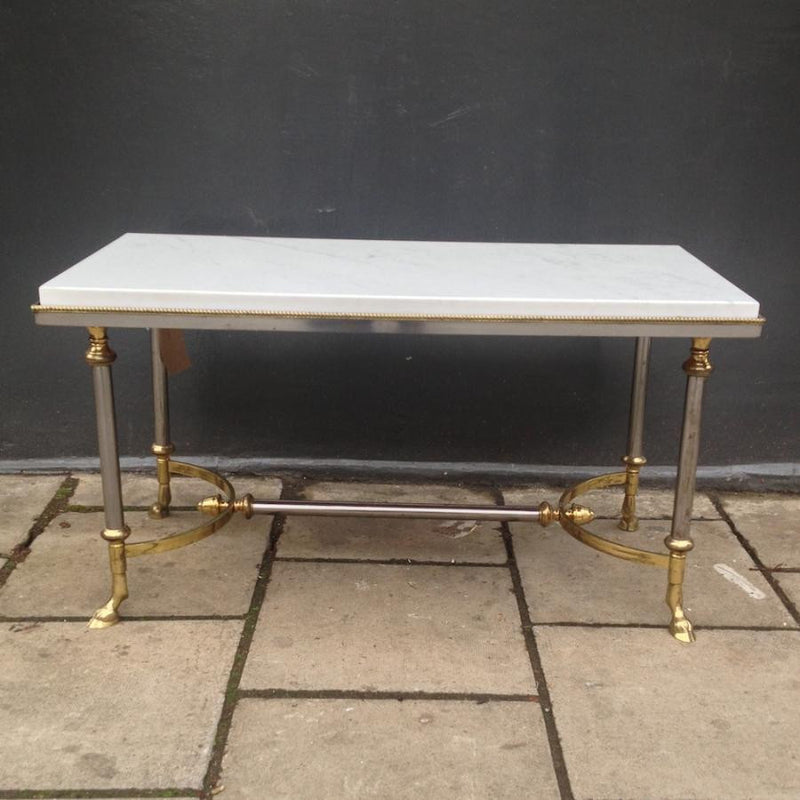 Marble and Brass Coffee Table - architectural-forum