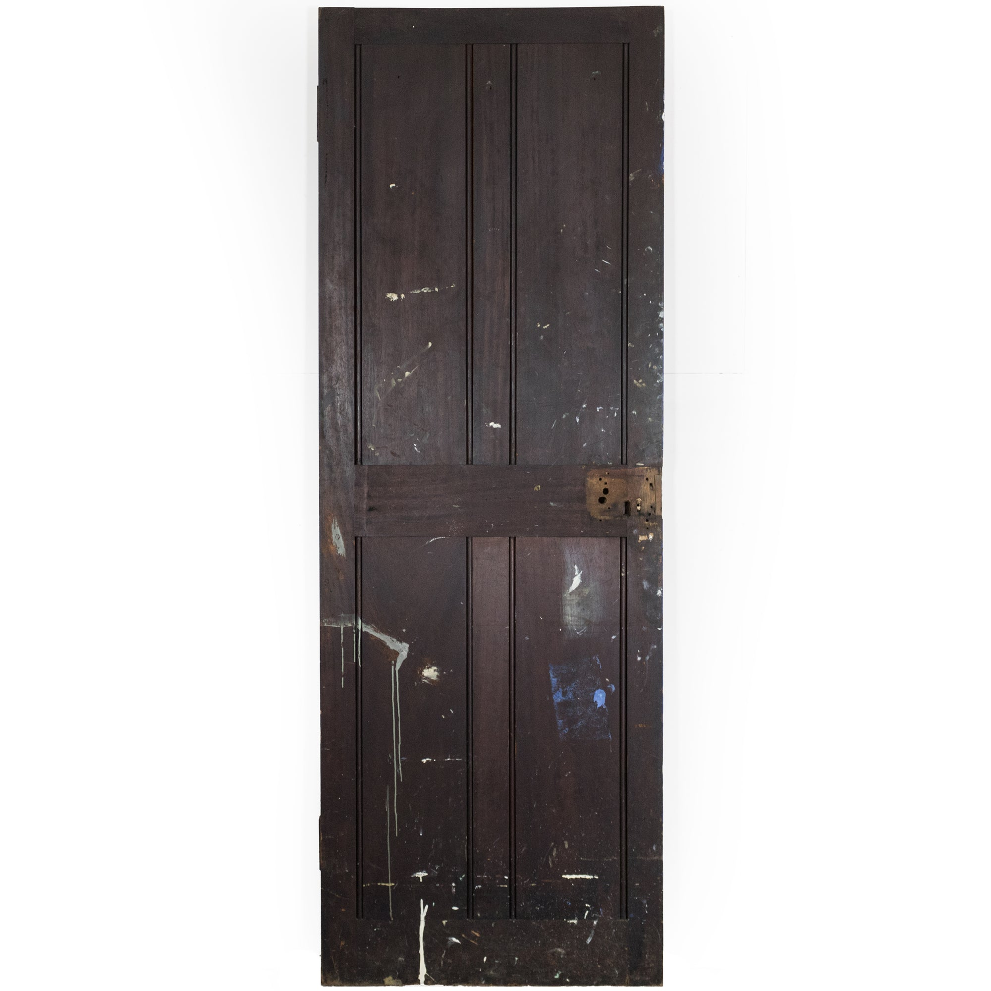 Antique Reclaimed Teak Four Panel Door - 194cm x 68.5cm x 3.5cm | The Architectural Forum
