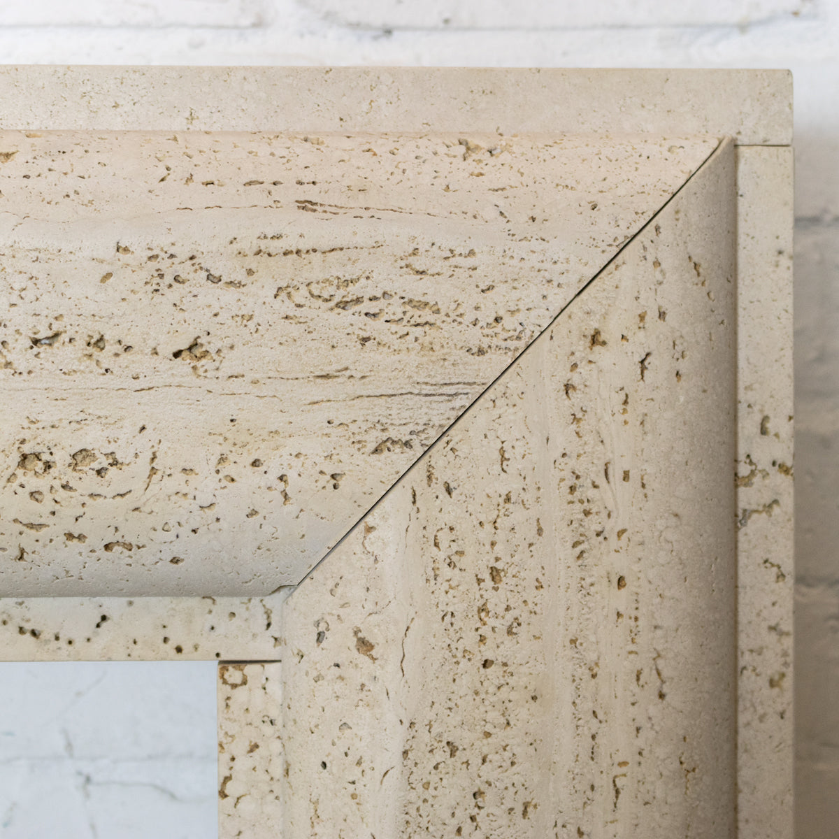 Travertine Marble Bolection Fireplace Surround | The Architectural Forum