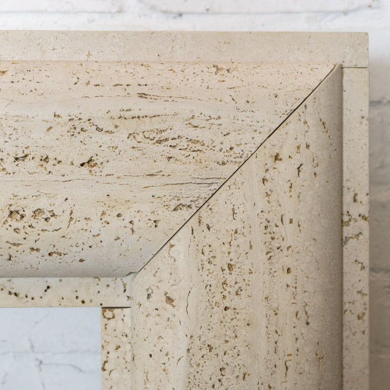 Travertine Marble Bolection Fireplace Surround