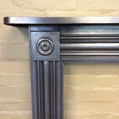 Georgian Bullseye Cast Iron Fireplace Surround - The Architectural Forum