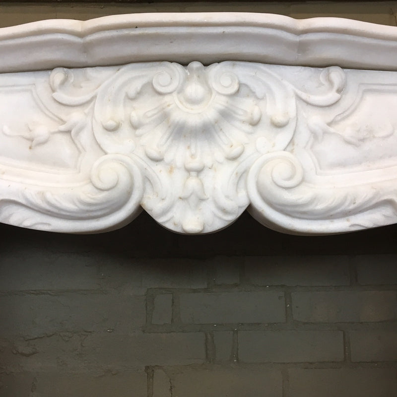 Antique Louis XV Statuary Marble Fireplace Surround
