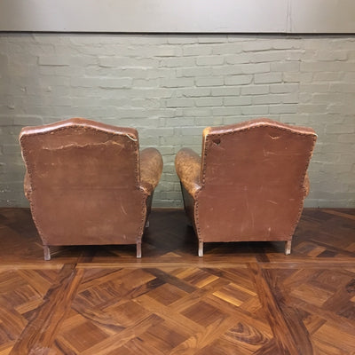 Antique Leather Club Chairs - architectural-forum