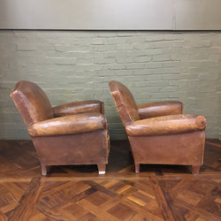 Leather vintage chairs